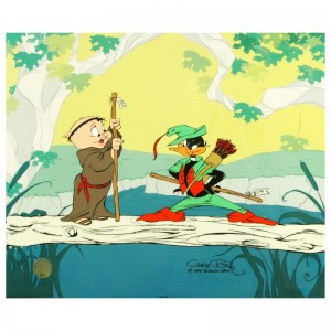 Buck and a Quarter Staff by Chuck Jones (1912-2002)! Sold Out Limited Edition Animation Cel with Hand Painted Color
