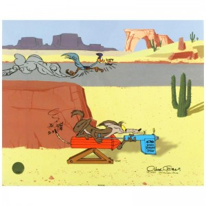 Acme Road Runner Spray Sold Out Limited Edition Animation Cel with Hand Painted Color by Chuck Jones (1912-2002)! AP Numbered and Hand Signed with Certificate of Authenticity!