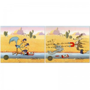 Road Runner and Coyote: Acme Birdseed Limited Edition Animation Cel from a Sold Out Edition with Hand Painted Color