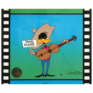 Sound Please by Chuck Jones (1912-2002)! Sold Out Limited Edition Animation Cel with Hand Painted Color! Numbered and Hand Signed with Certificate of Authenticity!