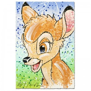 Bambi the Buck Stops Here Disney Limited Edition Serigraph by David Willardson