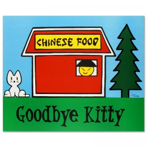 "Goodbye Kitty Limited Edition Lithograph (37"" x 30"") by Todd Goldman"