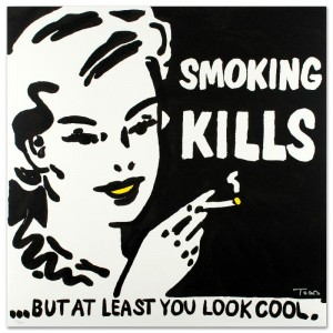 Smoking Kills Limited Edition Lithograph by Todd Goldman