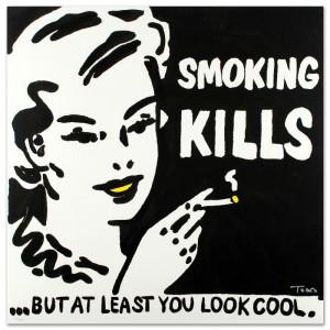 Smoking Kills Limited Edition Lithograph by Todd Goldman
