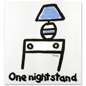 One Night Stand Limited Edition Lithograph by Todd Goldman