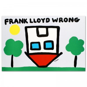 Frank Lloyd Wrong Limited Edition Lithograph by Todd Goldman