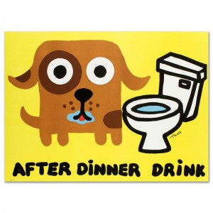 After Dinner Drink Limited Edition Lithograph by Todd Goldman
