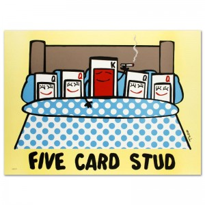 Five Card Stud Limited Edition Lithograph by Todd Goldman