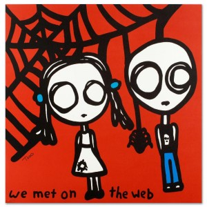 We Met on the Web Limited Edition Lithograph by Todd Goldman