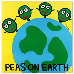 Peas on Earth Limited Edition Lithograph by Todd Goldman