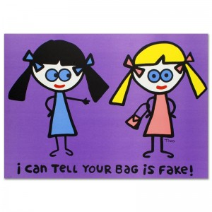 "I Can Tell Your Bag is Fake Limited Edition Lithograph (38"" x 27"") by Todd Goldman"