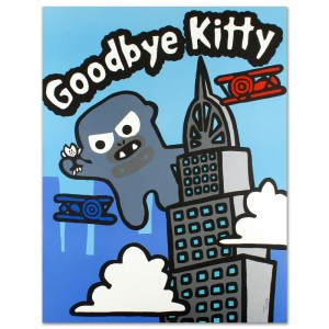 "Goodbye Kitty Limited Edition Lithograph (32.5"" x 42"") by Todd Goldman"