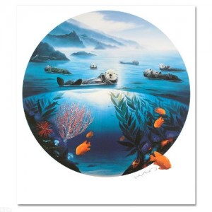 Sea Otters LIMITED EDITION Lithograph by renowned artist WYLAND