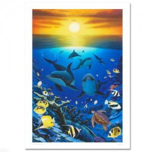 Ocean Calling Limited Edition Giclee on Canvas by Renowned Artist Wyland