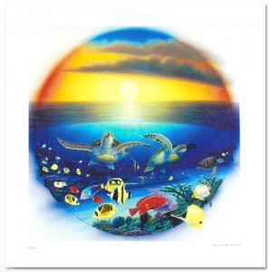 Sea Turtle Reef Limited Edition Giclee on Canvas by Renowned Artist Wyland