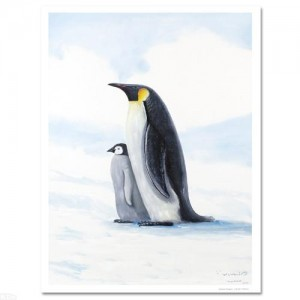 Antarctic Penguins Limited Edition Giclee on Canvas by Renowned Artist Wyland