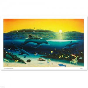 "Warm Tropical Waters Limited Edition Giclee on Canvas (43"" x 26"") by Renowned Artist Wyland"