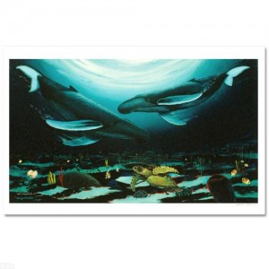 "Wyland -""Humpback Dance"" Limited Edition Giclee on Canvas (35"" x 24"")"
