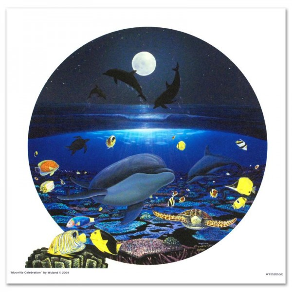 Moonlight Celebration LIMITED EDITION Giclee on Canvas by renowned artist WYLAND