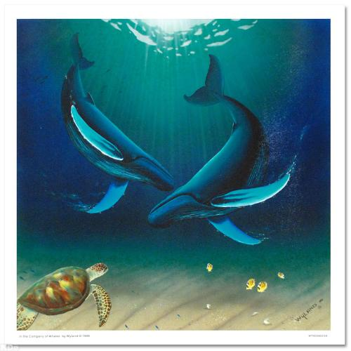 In the Company of Whales LIMITED EDITION Giclee on Canvas by renowned artist WYLAND