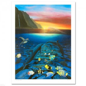 "Kiss for the Sea Limited Edition Giclee on Canvas (30"" x 40"") by Renowned Artist Wyland"