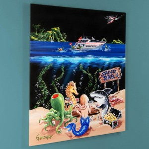 "Sand Bar 1 LIMITED EDITION Giclee on Canvas (28"" x 35"") by Michael Godard"