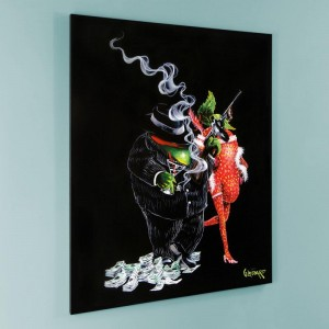 """Gangster Love LIMITED EDITION Giclee on Canvas (28"""" x 35"""") by Michael Godard"""