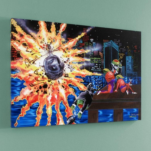 """Shaken Not Stirred LIMITED EDITION Giclee on Canvas (35"""" x 25"""") by Michael Godard"""