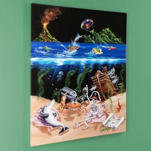 "Sand Bar 2 LIMITED EDITION Giclee on Canvas (28"" x 35"") by Michael Godard"