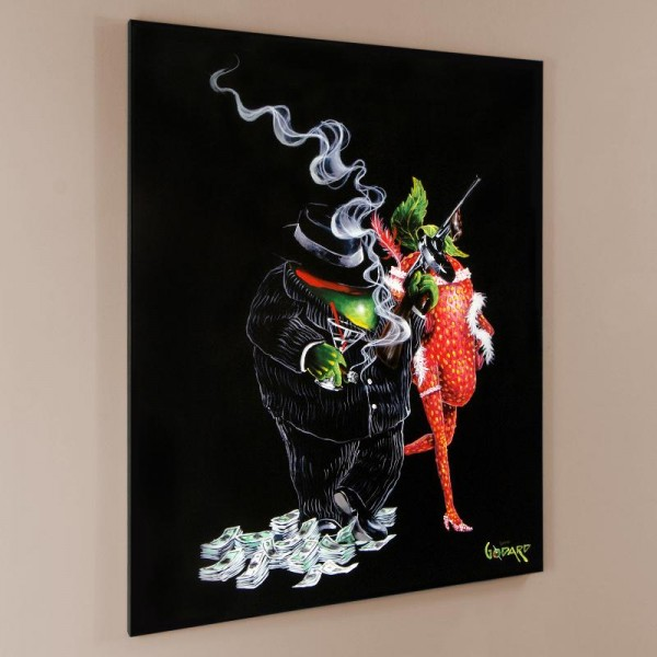 "Gangster Love LIMITED EDITION Hand-Embellished Giclee on Canvas (28"" x 35"") by Michael Godard"