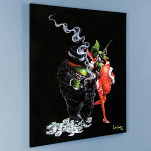 Gangster Love LIMITED EDITION Giclee on Canvas by Michael Godard