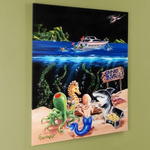 "Sand Bar 1 Mural LIMITED EDITION Hand-Embellished Giclee on Canvas (42"" x 53"") by Michael Godard"