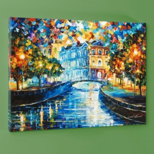 House on the Hill LIMITED EDITION Giclee on Canvas by Leonid Afremov