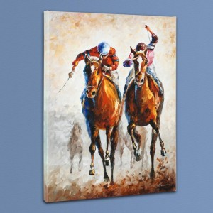 Contenders LIMITED EDITION Giclee on Canvas by Leonid Afremov