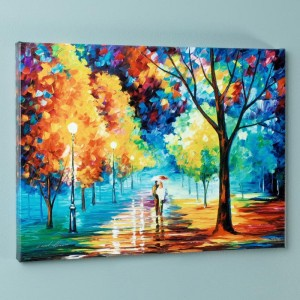 Night Alley LIMITED EDITION Giclee on Canvas by Leonid Afremov