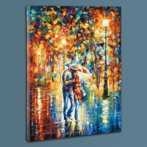 Rainy Evening LIMITED EDITION Giclee on Canvas by Leonid Afremov
