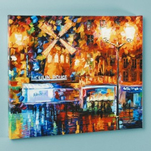 Moulin Rouge LIMITED EDITION Giclee on Canvas by Leonid Afremov