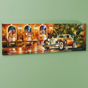 "1934 Packard LIMITED EDITION Giclee on Canvas (35"" x 12"") by Leonid Afremov"