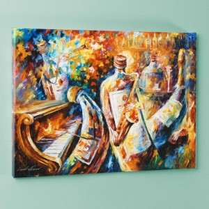 Bottle Jazz I LIMITED EDITION Giclee on Canvas by Leonid Afremov