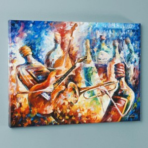 Bottle Jazz II LIMITED EDITION Giclee on Canvas by Leonid Afremov
