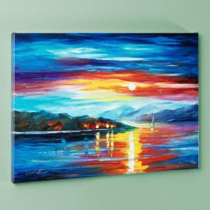 Never Alone LIMITED EDITION Giclee on Canvas by Leonid Afremov