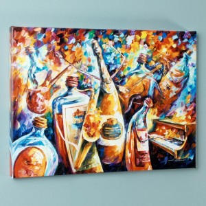 Bottle Jazz IV LIMITED EDITION Giclee on Canvas by Leonid Afremov