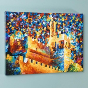 David's Citadel LIMITED EDITION Giclee on Canvas by Leonid Afremov
