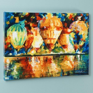Balloon Show LIMITED EDITION Giclee on Canvas by Leonid Afremov