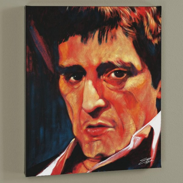 Pacino Limited Edition Giclee on Canvas by Stephen Fishwick