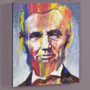 Abe LIMITED EDITION Giclee on Canvas by Stephen Fishwick