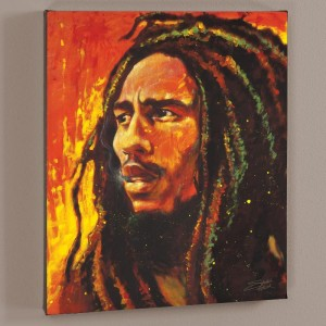Bob Marley LIMITED EDITION Giclee on Canvas by Stephen Fishwick