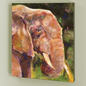Elephant LIMITED EDITION Giclee on Canvas by Stephen Fishwick