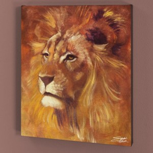 Lion LIMITED EDITION Giclee on Canvas by Stephen Fishwick