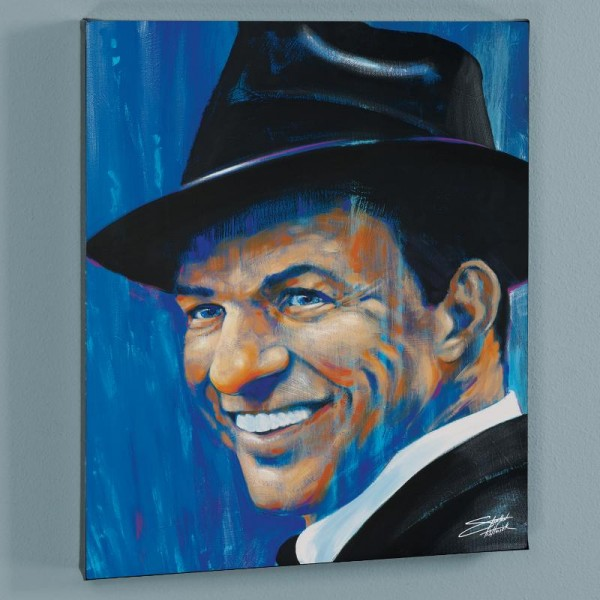 Old Blue Eyes LIMITED EDITION Giclee on Canvas by Stephen Fishwick